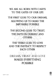 Dreams Trust and love